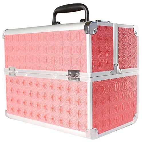 ALU Beauty Case Kosmetikkoffer Werkzeugkoffer Multikoffer Schminkkoffer pink Neu Maße: (Länge) 32cm x (Breite) 21 cm x (Höhe) 26 cm