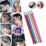 Blaward Rasierstift Tool für Haar Edelstahl Salon Graviert Stift Professional Barber DIY Engraved Pen Haar Werkzeug mit 10 Klingen (5 Sätze)