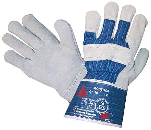 - Spaltleder-arbeits-handschuhe (12 Paar - ROSTOCK, 5-Fg.-Sicherheitshandschuhe aus Spaltleder - HASE - 212150 - Größe 9)