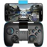 BEBONCOOL Manette de jeu Bluetooth Sans fil avec Support pour Smartphone Android /Tablette/TV Box/Samsung Gear VR/Emulateur(noir et bleu)