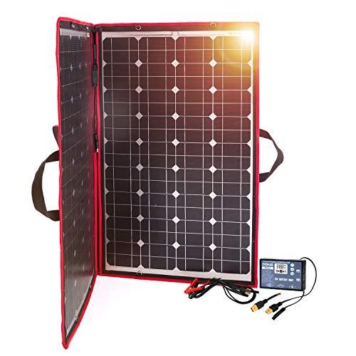 Nuestros buenos clientes nos muestran vídeos de productos. https://youtu.be/f4cUyL1QPgA Dokio Potente y multiusos panel solar 100 W Muy ligero. Este panel solar contiene 100 W de potencia, pero solo pesa 2,7 kg, controlador solar gratuito (precio ori...