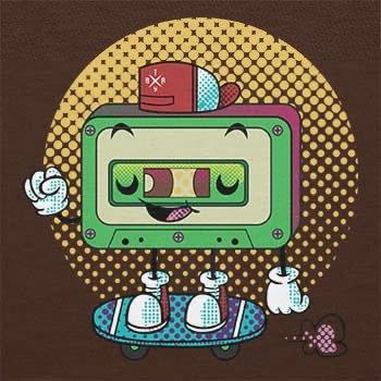 Texlab–Cool Cassette–sacchetto di stoffa Marrone