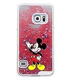 Phone Kandy® Hart Transparent Shell Glitter Stars Sparkle Telefon-Kasten mit Karikatur Hülle Abdeckung Haut tascen (Samsung Galaxy S7, Mickey)