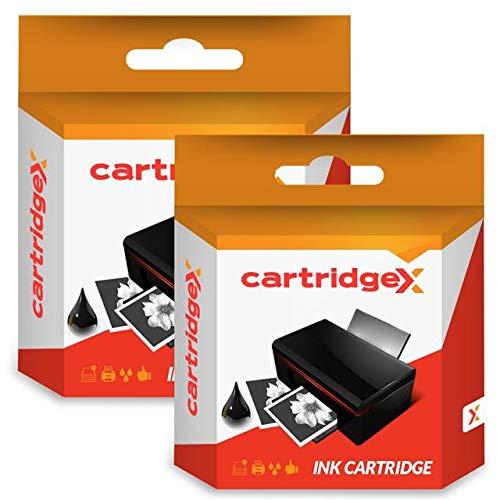Cartridgex 2 x Schwarz Kompatible Tintenpatrone Ersatz für Canon Pixma Pro 9000 Mark II CLI-8 BK -
