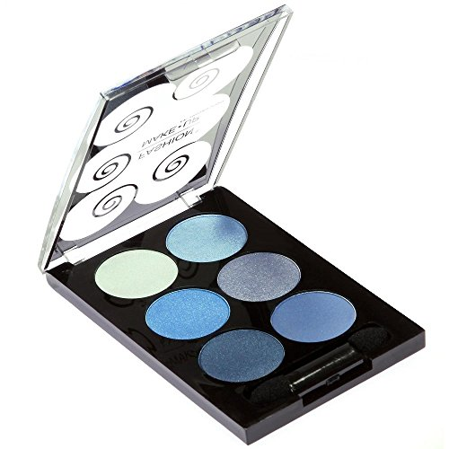 PALETTE DE MAQUILLAGE DÉGRADÉ 6 TONS degradé bleu/gris + 1 PINCEAU PERFECT MAKE UP