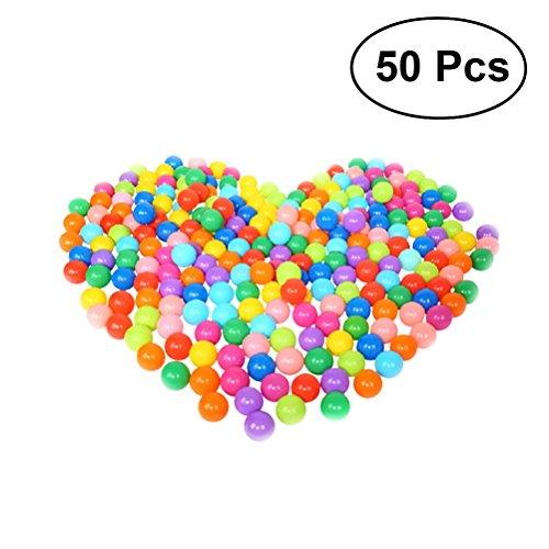 Toyvian Kinder Ball Weichem Kunststoff Ball Pit Balls für Babys Kinder Kinder Veranstaltungen Spielplatz Spiele Pool Zelt Ozean Schwimmen Spielzeug Ball Verpackung in Chaos Tasche, 5,5 cm - 50 STÜCKE (Pit Für Bulk Ball Kunststoff-bälle)