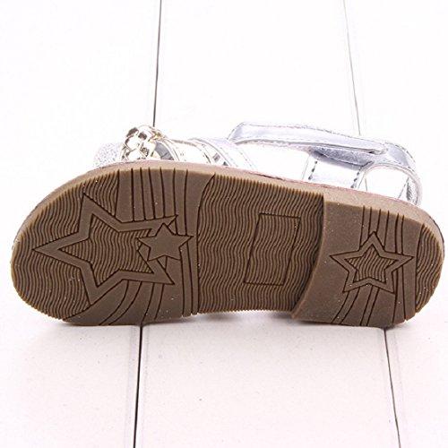 Culater® Bébé Extérieur Princesse Sandales Bébé Premier Marcheurs Filles Chaussures (12/6~12 mois, Or) Or