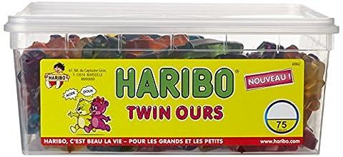 Haribo Bonbon Gélifié Twin Ours x 75 Pièces 1,38 kg