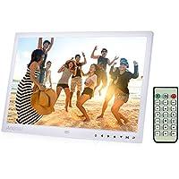 """Andoer 15 """" Cadre Photo Numérique TFT LED Digital Photo Frame 1080P MP4 Vidéo MP3 Audio eBook Horloge Calendrier 1280 * 800 HD Remote Control Infrarouge 7 Touch Key 14 Languages Support Detachable"""