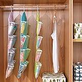 Hanmarigold 16 Taschen löschen über Tür-hängende Beutel Aufhänger Lagerung Tidy Organizer Für Privatanwender Badezimmer Wohnzimmer Haushalt Kunterbunt (Pink)