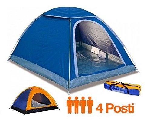 Tenda canadese igloo da 4 posti quattro persone per campeggi mare viaggio camping spiaggia 200x200x135 cm