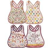 JT-Amigo 4er Set Baby Lätzchen, Baumwolle, Wasserdicht, Rosa