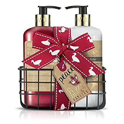 Baylis & Harding Hand Wash and Hand Lotion Set, Fuzzy Duck Festive, Mulberry and Mistletoe