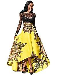 Vestidos Mujer Verano Elegante de Maxi Vestir Largo Manga de para Playa Fiesta,Nuevo Africano