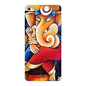 Cute Ganesha Abstract Art Back Case Cover for Micromax Canvas Silver 5