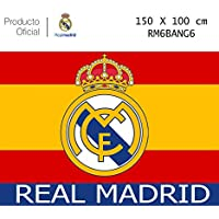 Producto Oficial Real Madrid Bandera del Real Madrid -Incluye  Tatuajes(Colores De España 150x100CM 2e0e635ce82