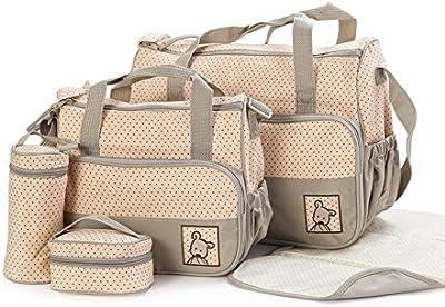 SORA H® kits Bolsa de Mama Para Bebe Biberon Bolso/Bolsa/Bolsillo Maternal Bebé para carro carrito biberón colchoneta comida pañal