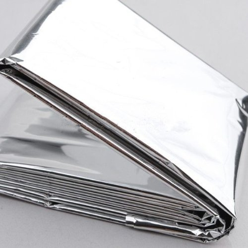 51clSq7Rm6L. SS500  - Factorykiss Foil Survival Rescue Emergency Blanket Waterproof Silver