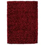 Vivir Mejor moderno pelo largo Shaggy-Alfombra, color rojo talla: 70x 140cm