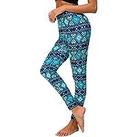 Pantalón Chandal Mujer Estampado de Alces de Navidad,Mallas Pantalones Yoga Mujeres Deportivos de Cintura Alta para Mujeres Running Fitness Leggings Ropa de Ejercicio Gusspower