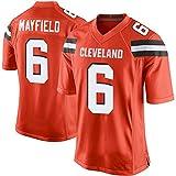 HQIUYI NFL Rugby Vêtements, Marron Marron 6# Mayfield Le Légendaire Fan De Football De Deuxième Génération T-Shirt S-XXXL