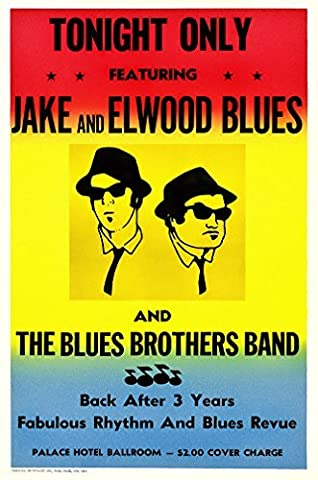 The Blues Brothers In Concert Poster - Size 24x36 (60.96cm x 91.44cm) by Unknown