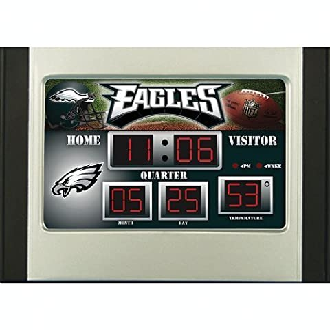 Philadelphia Eagles Scoreboard Desk Clock by Team Sports America
