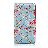 32nd Floral Series - Design PU Leather Book Wallet Case