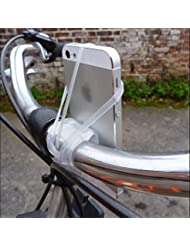Silikon-Gummiband Fahrrad-Motorrad-Smartphone Lenkerhalterung Halterung für iPhone 5/6 / 6S Plus-Galaxy S6 / S5 Hinweis LG Transparent