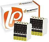 Bubprint 10 Druckerpatronen kompatibel für Epson T0711 für Stylus D78 D92 SX105 SX210 SX218 SX400 DX4000 DX4400 DX6000 DX6050 DX8450 BX300F Schwarz