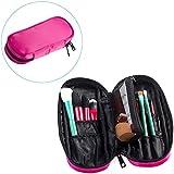 OR Pure Zipper Makeup Brush Bag Cosmetic Bag Organizer Portable Holder Multifunctional Makeup Case Handbag With...