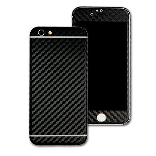 3D texturierte Kohlefaser Skin Wrap Aufkleber Aufkleber Cover Displayschutzfolie für Apple iPhone 6Plus 14cm (Fiber Apple-aufkleber Carbon)