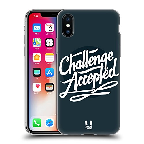 Head Case Designs Urbano Camou Digitale Cover Morbida In Gel Per Apple iPhone 7 Plus / 8 Plus Challenge Accepted