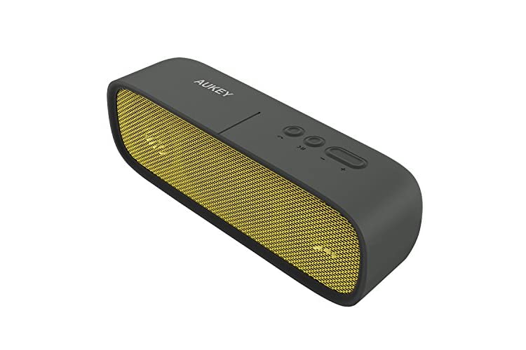 AUKEY Bluetooth Speaker, Portable Wireless Speaker with Stereo Dual-Driver and 12 Hours Playtime for iPhone, iPad, Samsung, Nexus, HTC & More(SK-M7, Yellow)