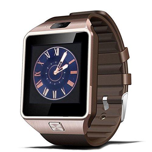 Padgene DZ09 Smartwatch mit Bluetooth für Android Smartphone und iPhone IOS (Rosa Gold)