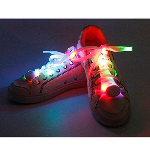 Disco Correa Fiestas Bateria Nylon amp;cool Cargada Seguridad Ambiente Led Multicolor Para Dogeek Luminosos Zapatillas Danza Cordones D9eWE2IHY