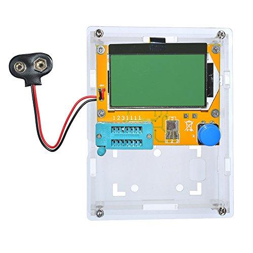 lcr-t4 ESR Meter Transistor Tester Diode Triode Kapazität SCR Induktivität 328 LCD-Display MOS PNP NPN mit Shell (Akku Schnalle), Transistor Battery buckle with Shell (Abgedeckt Rohr)