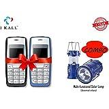 IKALL Combo Of 2 K72 Mobile Phone And Solar LED Lamp (Black, Blue)
