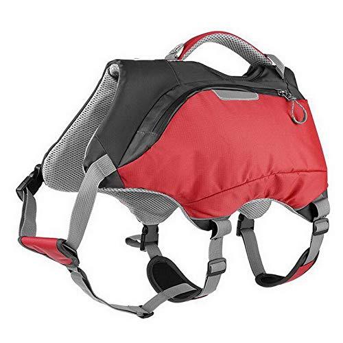 Lanceasy Regolabili Cane Zaino Life Jackets Esterna Impermeabile Dog Basto
