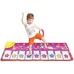 Kinder Musikmatte Surenhap Spielmatte 100 * 36CM Spielteppich Musik Klaviermatte Touch Play Tastatur für Kinder Baby [Früh Bildung Spielzeug]