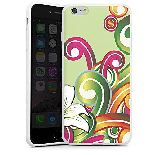 Apple iPhone X Silikon Hülle Case Schutzhülle Blume Blumenmuster Floral Silikon Case weiß
