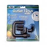 OutSet wide 12/16 Wasserrücklauf-Set mit Breitstrahlrohr für Außenfilter von Aquarien