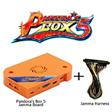 Wisamic Pandora's Box 5 Jamma Board PCB with Jamma Harness, 1280x720 Full HD, Upgraded CPU etc VGA HDMI Output for Arcade Cabinet - Orange