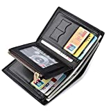 Tessera nero /& carte di credito cartella Esecuzione di Alta Qualità LEAS in vera pelle-