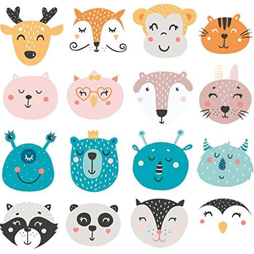 Cartoon-patch (Patches für Kinder Kleidung, Lovely Cartoon Animal Patch DIY Zubehör Advanced Level waschbar Wärmeübertragung Bügelbild Aufkleber Applikationen)