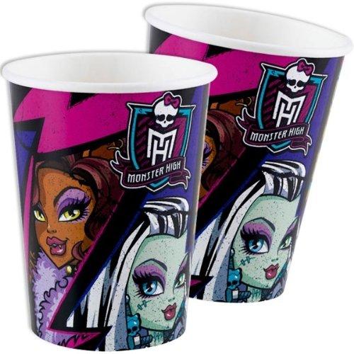 Amscan - 552513 - 8 Gobelets Monster High 2 - 266 ml