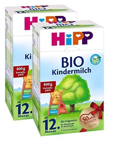 Hipp Bio Kindermilch - ab dem 12. Monat, 2er Pack (2 x 800g)