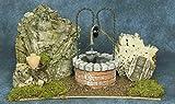 Ambientazione pozzo con particolari in gesso, fatto e colorato a mano in italia cm 25x12x14