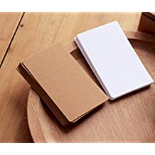 Cosanter 100 St¨¹ck Kraftpapier Wort Karten blanko mit 100 St¨¹ck Wei? Karte Graffiti Spielkarten Memo Pad DIY blanko f¨¹r Schule Spiel