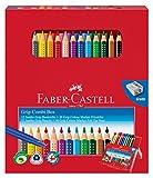 Faber-Castell 110913 Geschenkbox (mit 12 Jumbo Grip Farbstiften und 10 Colour Marker Filzstiften)